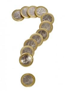 geld vraagtekeen